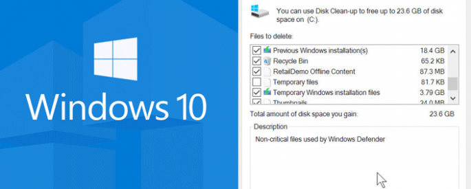 clean up old windows files
