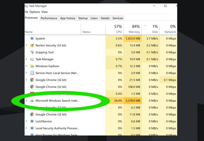 Search Filter Host WIndows 10