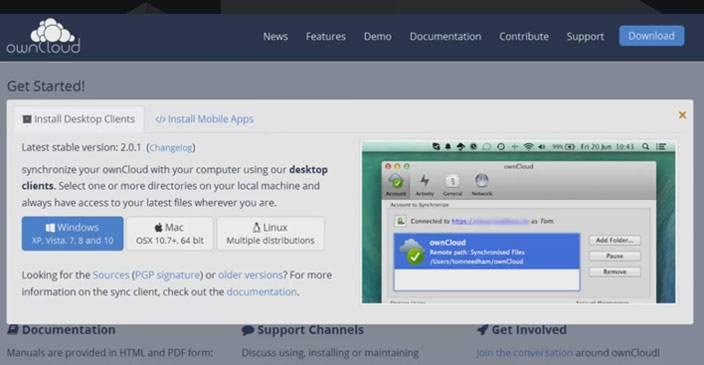 owncloud desktop