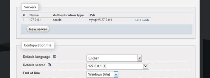 phpmyadmin iis windows 10