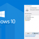 rebuilding index in windows 10