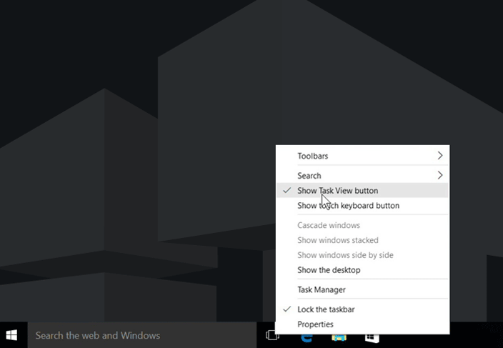 show task view windows 10