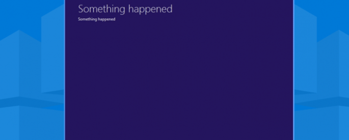 something happened windows 10 error