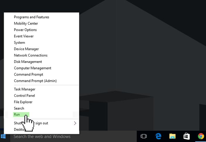 start menu icon hidden menu windows 10