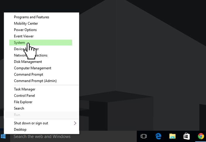 system settings windows 10
