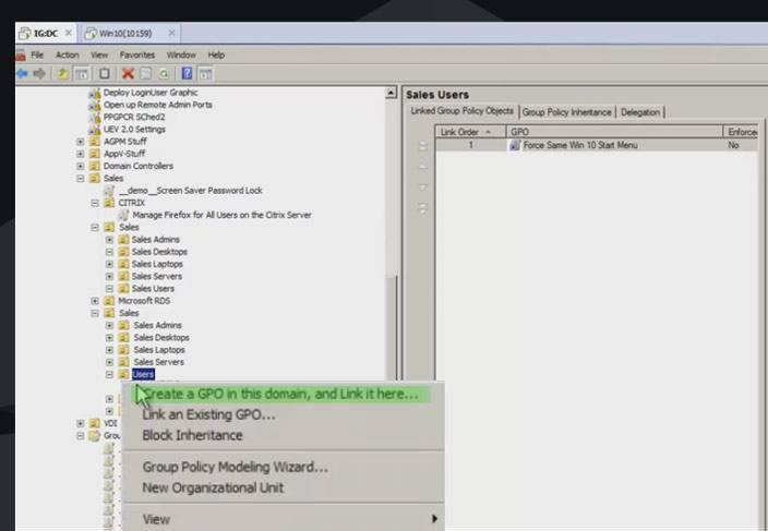 windows 10 create GPO