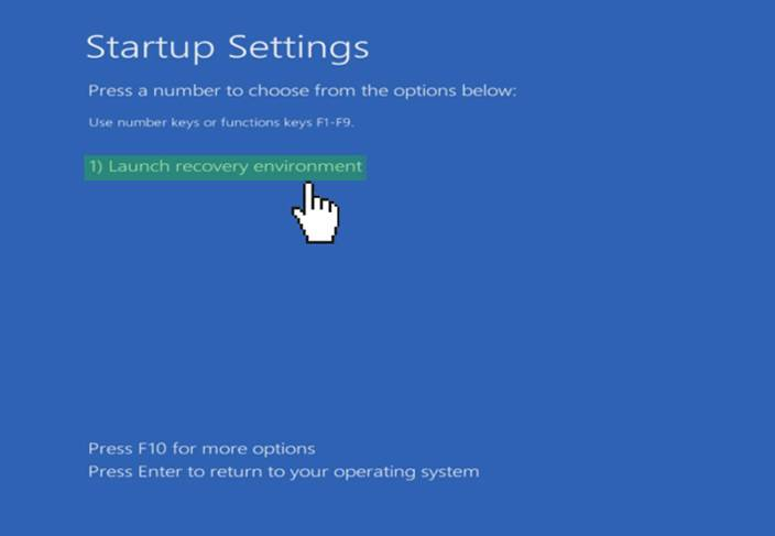 windows 10 launch recovery