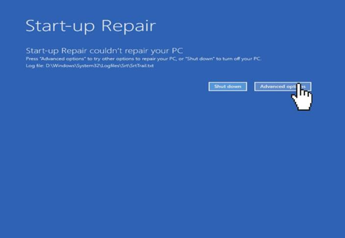 windows 10 startup errors