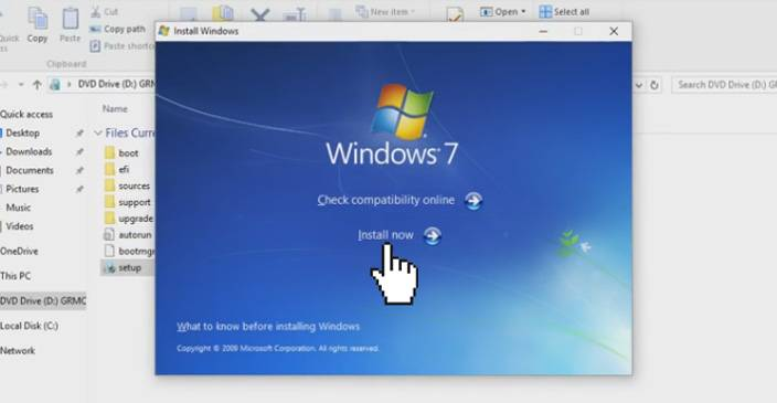 windows 7 install now