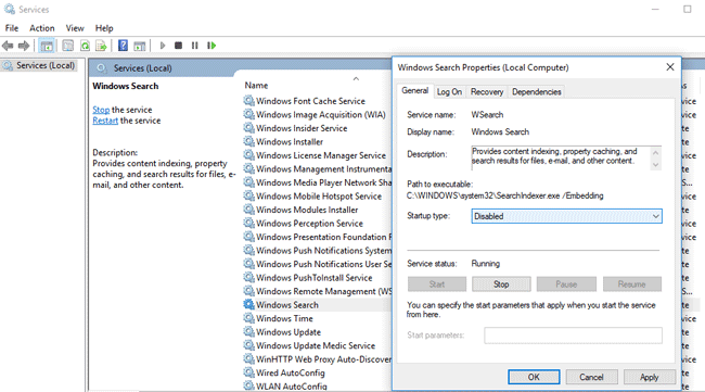 windows search indexer fixing