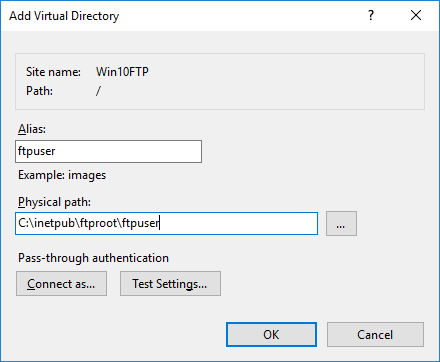 ftp server on windows machine