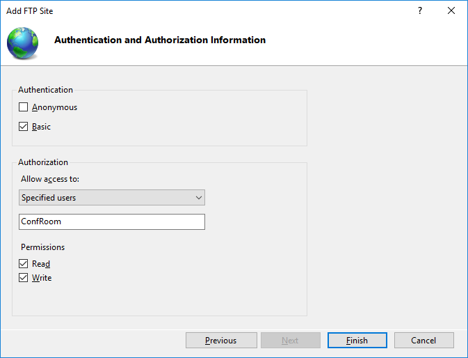 how to configure ftp server on windows 10