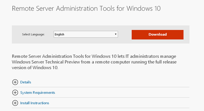 administration tools windows 10