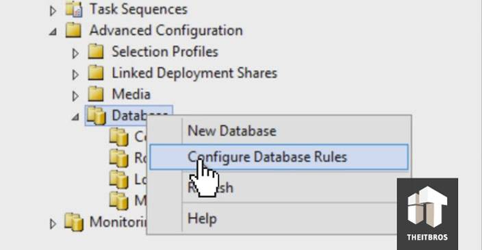 configure database rules