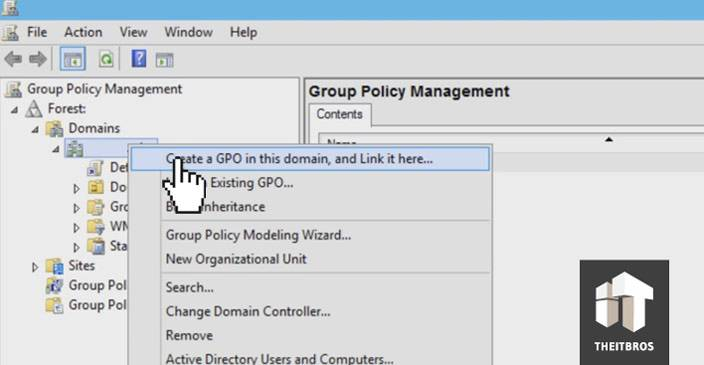 create GPO domain