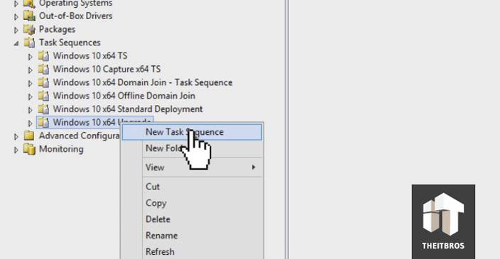 new task sequence