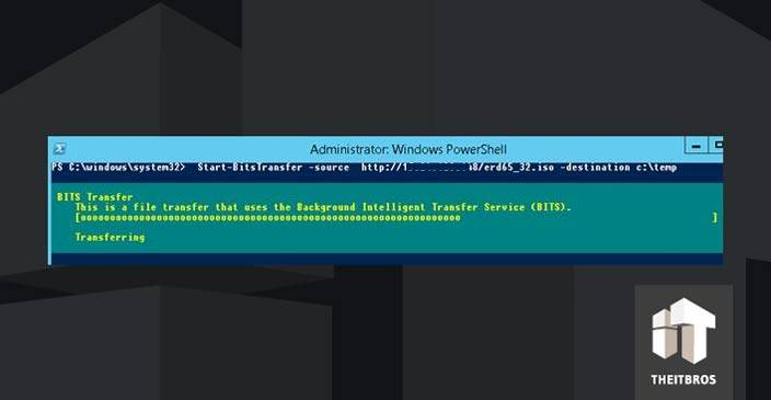 powershell BITS transfer