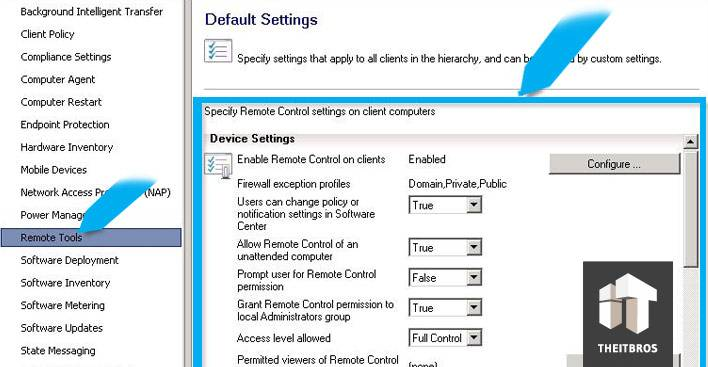remote control default settings
