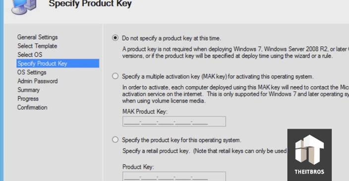 specify product key