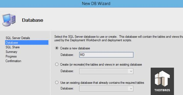 sql create a database
