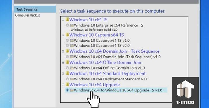 task sequence execute