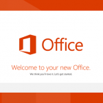 welcome office 2013 screen
