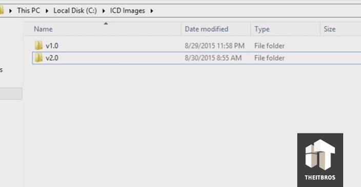 windows 10 ICD folders build