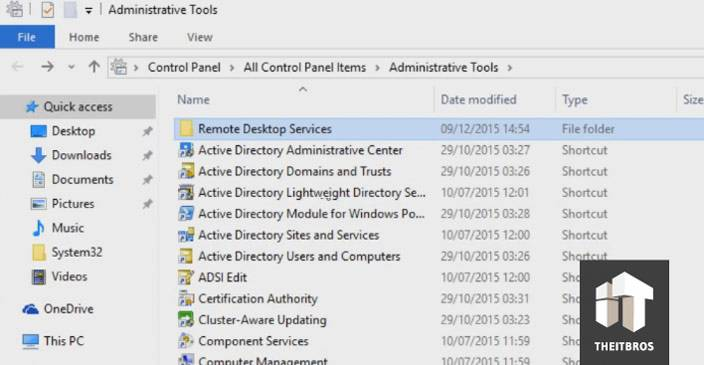 windows 10 administrative tools folder