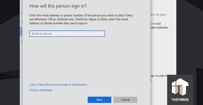 windows 10 person sign in