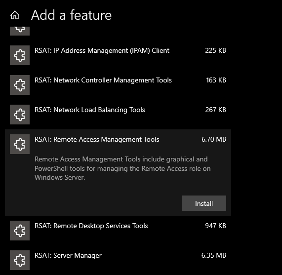 ras connection manager administration kit windows 10