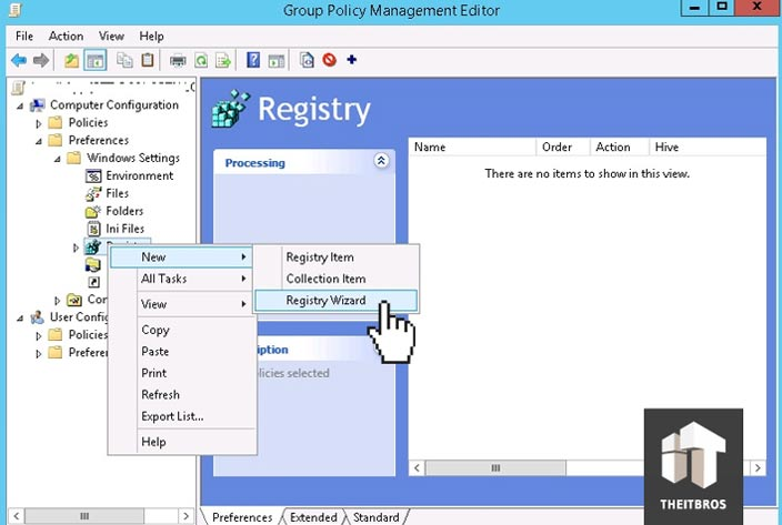 add registry key gpo
