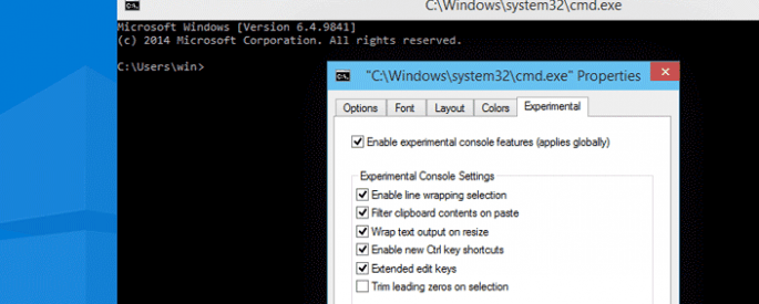 cmd customize windows 10