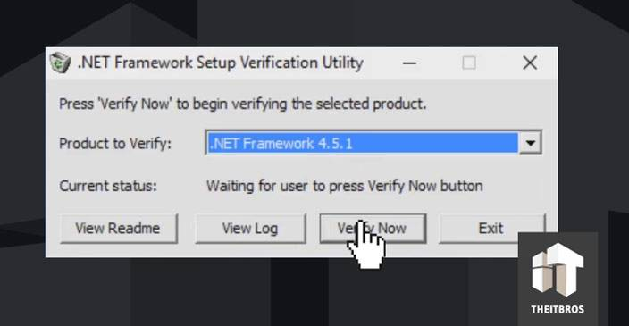 net framework verification