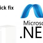 quick fix net framework