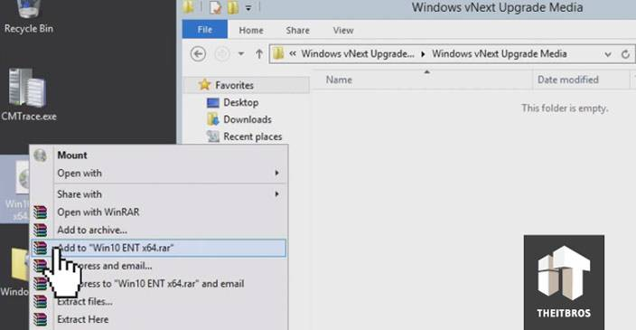 upgrade windows extract ISO