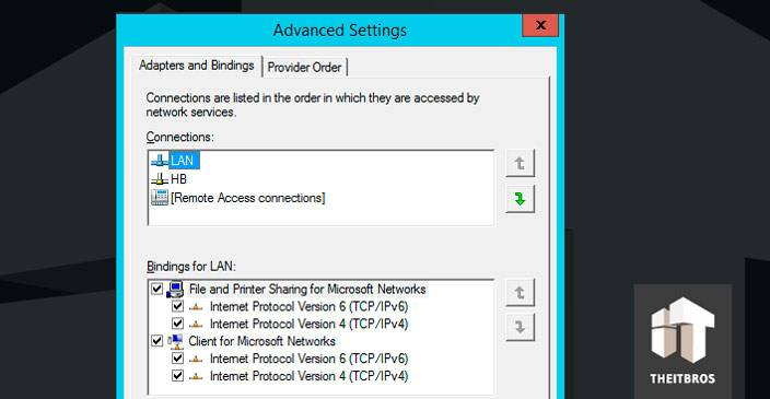 LAN advanced settings
