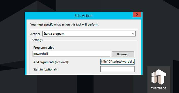 edit action powershell