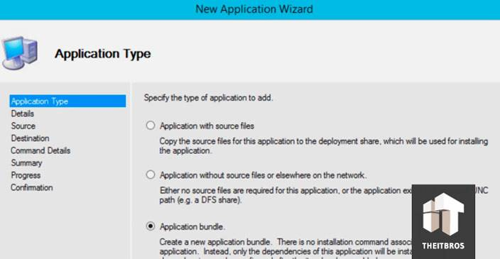 new application wizard