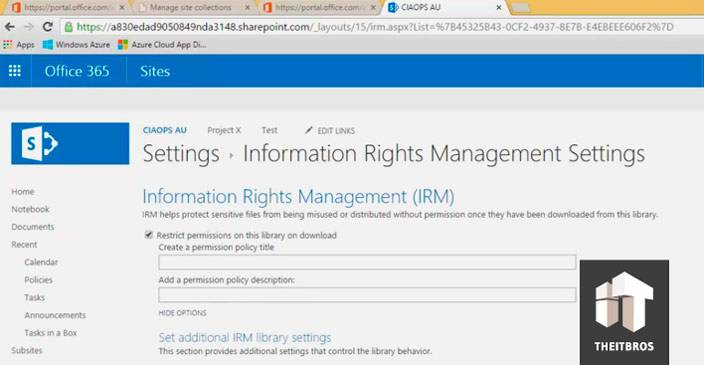 settings information rights