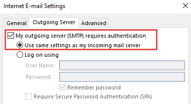 setup gmail with outlook IMAP server