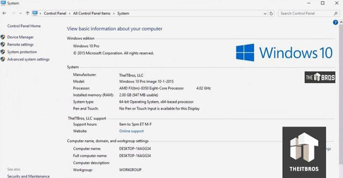 windows 10 info system