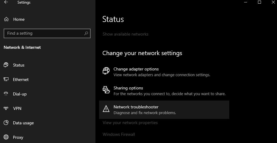 internet connection problems windows 10