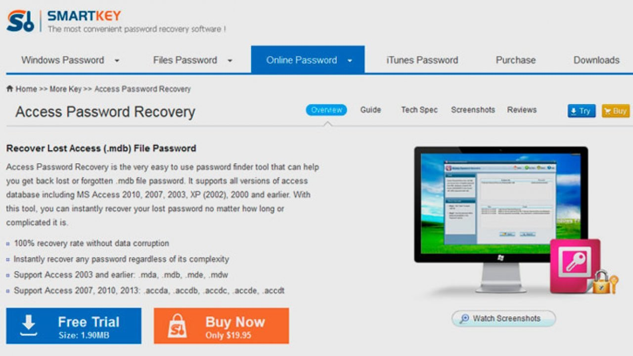 How to Recover Lost or Forgotten Password for MS Access