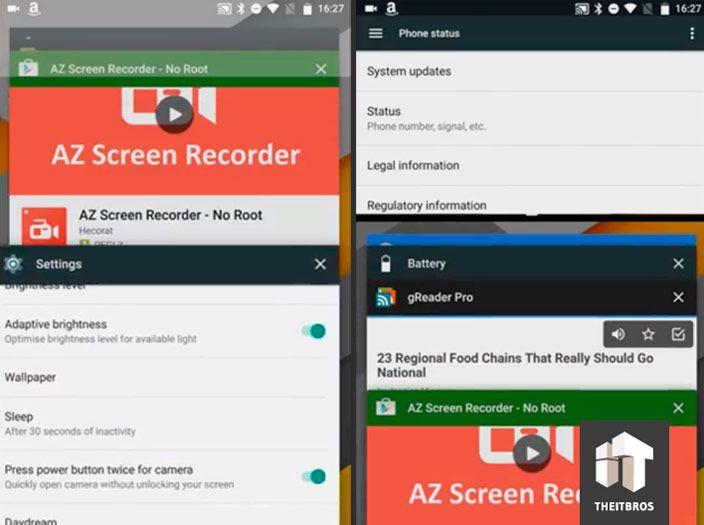 android n multitasking view