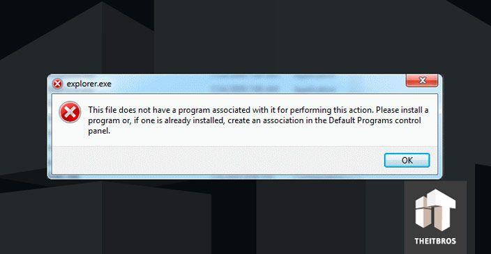 file association error