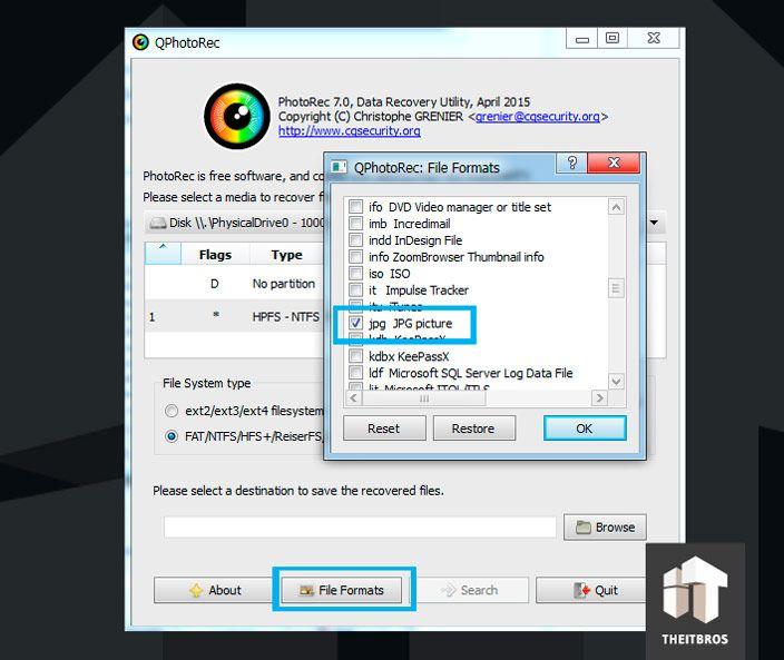 qp photorec file format