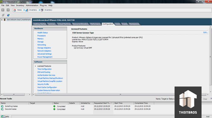 vmware license features