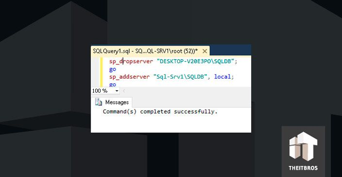 SQL query commands sucessfully