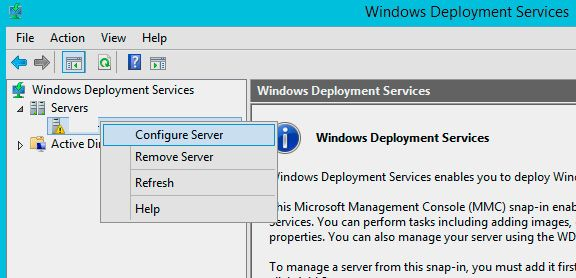 deploy windows 10 configure server